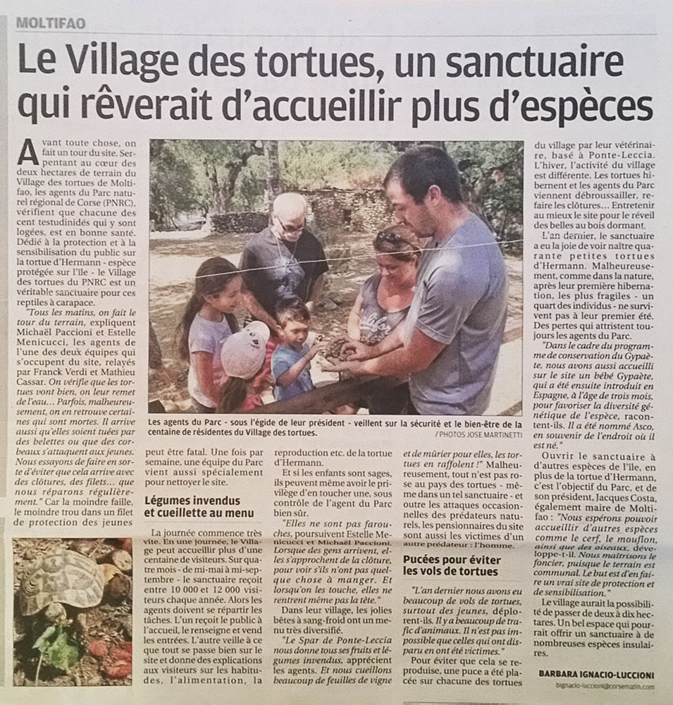 le Village des Tortues de Moltifau